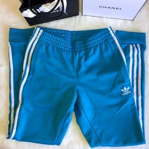 Blue adidas pants Small like new limited